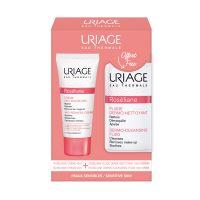 Uriage Roseliane Set Με Κρέμα Κατά Της Ερυθρότητας Για Κανονικό/ Ξηρό Δέρμα 40ml & Δώρο Υγρό Καθαρισμού & Ντεμακιγιάζ Προσώπου/Ματιών Για Ευαίσθητο Με Τάση Ερυθρότητας Δέρμα 100ml