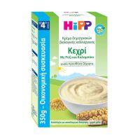Hipp Κρέμα Δημητριακών Βιολογικής Καλλιέργειας Κεχρί Με Ρύζι & Καλαμπόκι 4m+ 350g