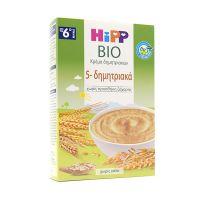 Hipp Bio Κρέμα Δημητριακών 5-δημητριακά 6m+ 200g