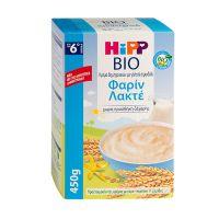 Hipp Bio Κρέμα Δημητριακών Με Γάλα & Σιμιγδάλι Φαρίν Λακτέ 6m+ 450g