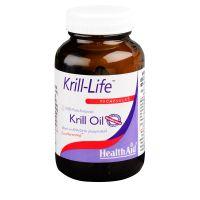 Health Aid Krill-Life Έλαιο Krill Ανταρκτικής 90 Κάψουλες