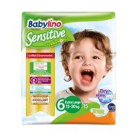 Babylino Sensitive Πάνες Με Χαμομήλι Νο6 Extra Large 15-30kg 15τμχ