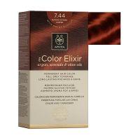 Apivita My Color Elixir Μόνιμη Βαφή Μαλλιών 7.44 Ξανθό Έντονο Χάλκινο