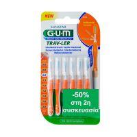 Gum Trav-Ler Μεσοδόντια Βουρτσάκια 0.9 12τμχ -50% Στη 2η Συσκευασία