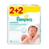 Pampers Sensitive Μωρομάντηλα 56τμχ 2+2 Set