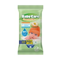 Babycare Chamomile Μωρομάντηλα Με Χαμομήλι Mini Pack 12τμχ
