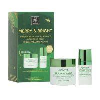 Apivita Merry & Bright Μείωση Ρυτίδων & Λάμψη Bee Radiant Set Με Κρέμα Ελαφριάς Υφής Για Λιπαρό/Μικτό Δέρμα 50ml & Δώρο Κρέμα Ματιών 15ml