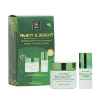 Apivita Merry & Bright Μείωση Ρυτίδων & Λάμψη Bee Radiant Set Με Κρέμα Πλούσιας Υφής 50ml & Δώρο Κρέμα Ματιών 15ml