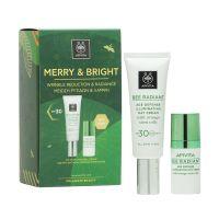 Apivita Merry & Bright Μείωση Ρυτίδων & Λάμψη Bee Radiant Set Με Κρέμα Ημέρας Spf30 40ml & Δώρο Κρέμα Ματιών 15ml