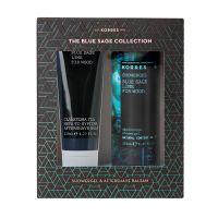 Korres The Blue Sage Collection Set Με Αφρόλουτρο 250ml & Γαλάκτωμα Για Μετά Το Ξύρισμα 125ml