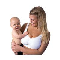 Carriwell Σουτιέν Θηλασμού Χωρίς Ραφές Με Μπανέλα Από Τζελ Λευκό M