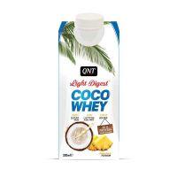 QNT Light Digest Coco Whey Νερό Με Πρωτεΐνη & Γεύση Pineapple 330ml