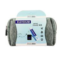 Elgydium Dental Travel Kit Σε Γκρι Νεσεσέρ Με 3 Μίνι Προϊόντα