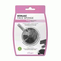 Vican Wise Beauty Konjac Face Sponge Σφουγγάρι Καθαρισμού Προσώπου Με Άνθρακα Μπαμπού