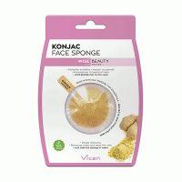 Vican Wise Beauty Konjac Face Sponge Σφουγγάρι Καθαρισμού Προσώπου Με Τζίντζερ
