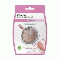 Vican Wise Beauty Konjac Face Sponge Σφουγγάρι Καθαρισμού Προσώπου Με Ροζ Άργιλο