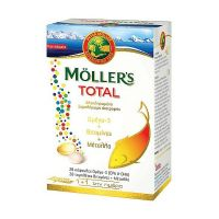 Moller's Total Ολοκληρωμένο Συμπλήρωμα Διατροφής Ωμέγα 3, Βιταμινών & Μετάλλων 28caps + 28tabs