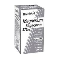 Health Aid BisglycinateMagnesium 375mg Vegan 60 Ταμπλέτες