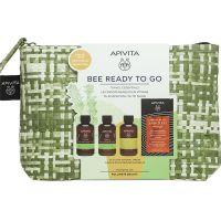Apivita Set Bee Ready To Go Με Tonic Mountain Tea Αφρόλουτρο & Γαλάκτωμα Σώματος 75ml, Απαλό Σαμπουάν Καθημερινής Χρήσης 75ml & Express Beauty Μάσκα Μαλλιών Για Αναζωογόνηση & Λάμψη Με Πορτοκάλι 20ml