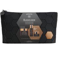 Apivita Queen Bee Set Με Κρέμα Ολιστικής Αντιγήρανσης Προσώπου Ελαφριάς Υφής 50ml & Δώρο Ορός Προσώπου 10ml & Κρέμα Προσώπου Νύχτας 15ml Σε Συλλεκτικό Νεσεσέρ