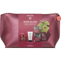 Apivita Set Wine Elixir Αντιρυτιδική Κρέμα Προσώπου Για Σύσφιξη & Lifting Πλούσιας Υφής Για Κανονικές/Ξηρές Επιδερμίδες 50ml & Δώρο Γαλάκτωμα Καθαρισμού Προσώπου/Ματιών 3 Σε 1 50ml & Express Beauty Αντιρυτιδική & Συσφιγκτική Μάσκα Προσώπου Mε Σταφύλι 2*8ml