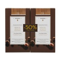 Korres Set Argan Oil Advanced Colorant Μόνιμη Βαφή Μαλλιών 7.3 Ξανθό Χρυσό/Μελί 2τμχ -50% Στη 2η Βαφή