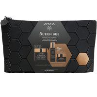 Apivita Set Queen Bee Με Κρέμα Ολιστικής Αντιγήρανσης Προσώπου Πλούσιας Υφής 50ml & Δώρο Ορός Προσώπου 10ml & Κρέμα Προσώπου Νύχτας 15ml Σε Συλλεκτικό Νεσεσέρ