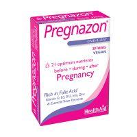 Health Aid Pregnazon Φροντίδα Πριν, Κατά & Μετά Την Εγκυμοσύνη Vegan 30tabs