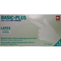 Med Comfort Basic Plus Γάντια Latex Με Πούδρα Λευκά Large 100τμχ
