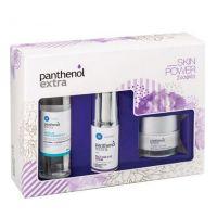 Panthenol Extra Skin Power Set Με Αντιρυτιδικό Ορό Προσώπου/Ματιών 30ml & Κρέμα Προσώπου Νυκτός Για Σύσφιξη & Αναδόμηση 50ml & Καθαριστικό Micellar 100ml