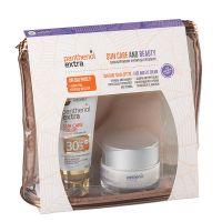 Panthenol Extra Set Με Sun Care Αντηλιακό Τζελ Προσώπου Με Χρώμα Spf30 50ml & Δώρο Αντιρυτιδική Κρέμα Ημέρας Προσώπου/Ματιών 50ml & Δώρο Ένα Υπέροχο Νεσεσέρ