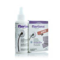 Fleriana Set Με Φυσικό Αντικουνουπικό Spray Γαλάκτωμα Σώματος 100ml & Δώρο Φυσικά Εντομοαπωθητικά Πλακίδια 10τμχ