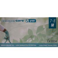 Sempercare Γάντια Νιτριλίου Χωρίς Πούδρα Πράσινα Medium 200τμχ