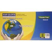 Top Glove Εξεταστικά Γάντια Latex Χωρίς Πούδρα Λευκά Small 100τμχ