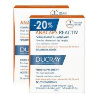 Ducray Anacaps Reactiv Συμπλήρωμα Διατροφής Για Μαλλιά & Νύχια 30+30 Κάψουλες -20%