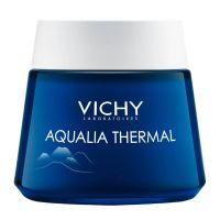 Vichy Aqualia Thermal Night Spa Ενυδατική Κρέμα Προσώπου Νύχτας & Μάσκα 2 Σε 1 Για Ευαίσθητο/Αφυδατωμένο Δέρμα 75ml
