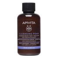Apivita Κρεμώδης Αφρός Καθαρισμού Προσώπου Με Ελιά & Λεβάντα Για Όλες Τις Επιδερμίδες 75ml Travel Size