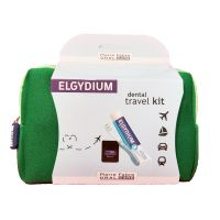 Elgydium Dental Travel Kit Σε Πράσινο Νεσεσέρ Με 3 Μίνι Προϊόντα