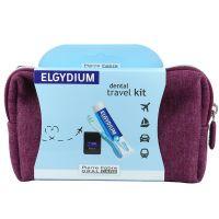 Elgydium Dental Travel Kit Σε Ροζ Νεσεσέρ Με 3 Μίνι Προϊόντα