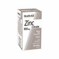 Health Aid Zinc Citrate Συμπλήρωμα Διατροφής με Κιτρικό Ψευδάργυρο 100mg, 100 Ταμπλέτες