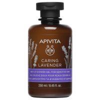 Apivita Caring Lavender Αφρόλουτρο Λεβάντα Για Ευαίσθητες Επιδερμίδες 250ml