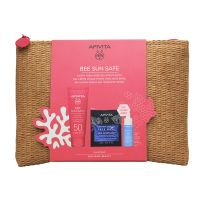 Apivita Bee Sun Safe Set Με Αντηλιακή Ενυδατική Κρέμα-Τζελ Προσώπου Spf50 50ml & Δώρο Aqua Beelicious Booster Αναζωογόνησης & Ενυδάτωσης 10ml & Express Beauty Μάσκα Προσώπου Ενυδάτωσης & Προστασίας Με Θαλάσσια Λεβάντα 2x8ml
