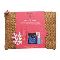Apivita Bee Sun Safe Set Με Κρέμα Προσώπου κατά των Πανάδων & των Ρυτίδων Spf50 50ml & Δώρο Aqua Beelicious Booster Αναζωογόνησης & Ενυδάτωσης 10ml & Express Beauty Μάσκα Προσώπου Ενυδάτωσης & Προστασίας Με Θαλάσσια Λεβάντα 2x8ml