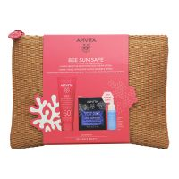 Apivita Bee Sun Safe Set Με Καταπραϋντική Κρέμα Προσώπου για Ευαίσθητες Επιδερμίδες Spf50+ 50ml & Δώρο Aqua Beelicious Booster Αναζωογόνησης & Ενυδάτωσης 10ml & Express Beauty Μάσκα Προσώπου Ενυδάτωσης & Προστασίας Με Θαλάσσια Λεβάντα 2x8ml