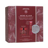 Apivita Wine Elixir Set Με Wine Elixir Αντιρυτιδική Κρέμα Για Σύσφιξη & Lifting Πλούσιας Υφής 50ml & Δώρο Αντιρυτιδική Κρέμα Lifting Για Τα Μάτια & Τα Χείλη 15ml