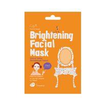Cettua Clean & Simple Brightening Μάσκα Προσώπου Λάμψης με 5 συστατικά White Flower 1τμχ