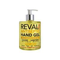 Reval Plus Antiseptic Hand Gel Αλκοολούχος Αντισηπτική Γέλη με Άρωμα Λεμόνι 500ml