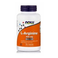 Now Foods L-Arginine Συμπλήρωμα Διατροφής για την Υγεία του Μυϊκού Συστήματος 500mg 100 κάψουλες
