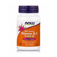 Now Foods High Potency Vitamin D-3 5000IU 120 Softgels