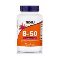 Now Foods Vitamin B-50 Συμπλήρωμα Διατροφής για την Υγεία του Νευρικού Συστήματος 100 κάψουλες